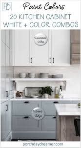 white kitchen cabinets paint color 20 cabinet paint color combos for the kitchen kitchen