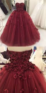 lovely flower sweetheart tulle gowns quinceanera dresses 2018