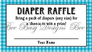 printable blue gingham diaper raffle tickets great for baby