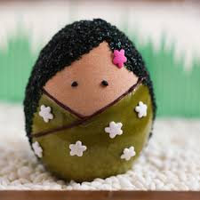 thirsty for tea kokeshi easter eggs