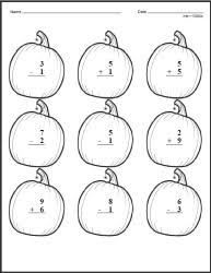 halloween math worksheets lessons and printables