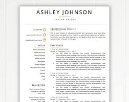 resume template etsy