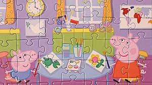 peppa pig painting episodes puzzle games puzzle games