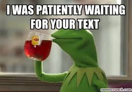 Waiting For Text Meme - when your waiting for a text meme wait pinterest meme and kermit