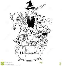 doodle art halloween vector stock vector image 73356740
