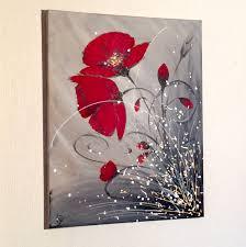 Tableau Abstrait Rouge Et Gris by Tableau Acrylique Abstrait