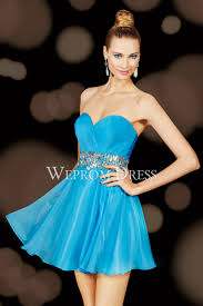 sky blue satin sleeveless best places to buy homecoming dress