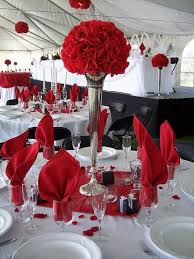 red and white table decorations for a wedding red and silver wedding table decorations amazing red white and