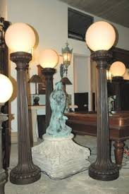 cast iron lighting columns antique pair cast iron eagle lites nursery rhyme ls little bo