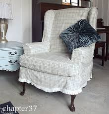 slip covering a wing back chair chapter37