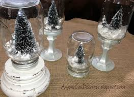 wine glass snow globes diy jar snow globes hometalk