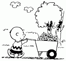 pumpkin charlie brown coloring pages coloring