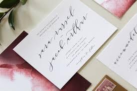Calligraphy Wedding Invitations Calligraphy Wedding Invitations In Augusta Georgia Tied U0026 Two