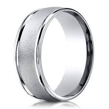 satin finish ring men s palladium wedding ring in wired finish 6mm just men s rings