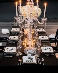 Black Table Centerpieces by 58 Elegant Black And White Wedding Table Settings Happywedd Com