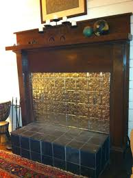 fireplace hearth pad cover cement covered tin ceiling tiles