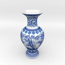 chinese blue and white porcelain vase 3d cgtrader