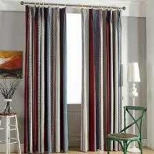 Multi Color Curtains Top Chenille Multi Color Striped Curtains