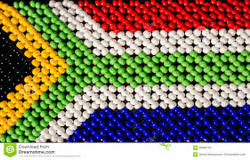 Aftican Flag South African Flag Made From Beads In Tribe Zulu Stock Photo