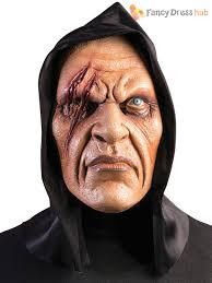 mens halloween hooded zombie mask halloween horror fancy dress