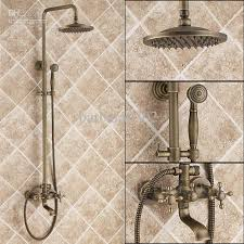 2017 antique brass tub shower faucet with shower