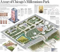 grant park chicago map chicago map millenium park