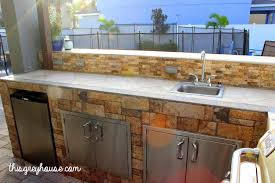 our diy outdoor kitchen this grey house