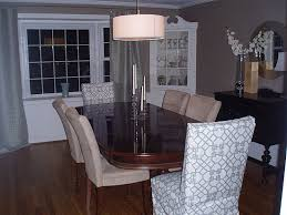 Dining Room Chair Cover Ideas Dining Room Chair Slipcovers Pattern Glamorous Decor Ideas