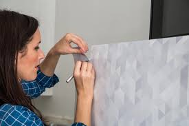 Affordable Temporary Wallpaper How To Give A Refrigerator A Makeover With Wallpaper How Tos Diy