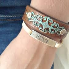 leather jewelry cuff bracelet images Leather bracelet with turquoise leather bracelet for women jpg