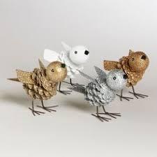 pinecone birds by world market inspiration for diy pinecone bird