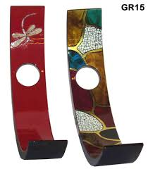 g 21 luxury wine bottle holder in red lacquer single wooden wine