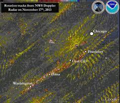 Weather Radar Map Chicago by November 17 2013 Tornado Outbreak
