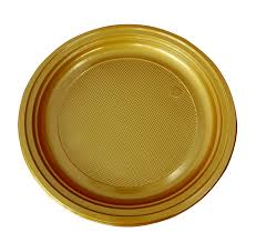 vaisselle jetable fete 30 assiettes plastiques 22cm or vaisselle jetable fête en folie