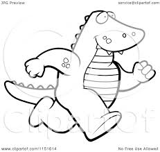 alligator coloring pages cartoon clipart of a black and white alligator running upright