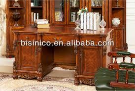 scrivanie stile antico americano antico legno massello sala studio scrivania set in