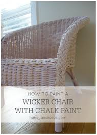 how to paint a wicker chair with chalk paint honey u0026 roses