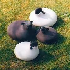 sheep sculpture for contemporary garden ornaments