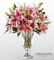 stargazer bouquet the ftd stylish stargazer bouquet by vera wang vase included