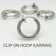clip on earrings for men clip on hoop earring silver clip on earring men s