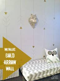 metallic gold arrow accent wall tutorialdiy show off u2013 diy