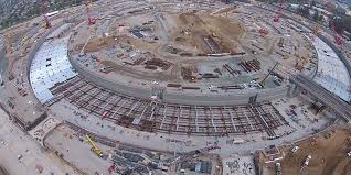 new drone video shows apple u0027s spaceship campus 2 business insider
