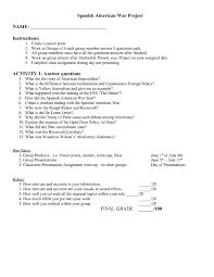spanish american war worksheet worksheets releaseboard free