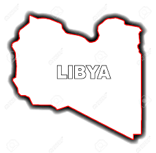 Map Of Libya Outline Map Of The Arab League Country Of Libya Royalty Free