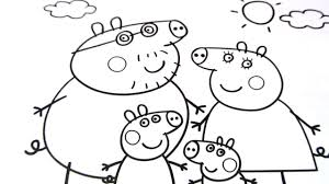 how to drawing peppa pig and colouring pages for kids