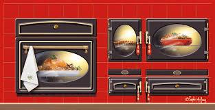 cuisine trompe l oeil trompe l œil d une cuisinière pour une plv aux couleurs de noël