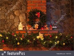 holidays christmas decorated fireplace stock image i4317210 at