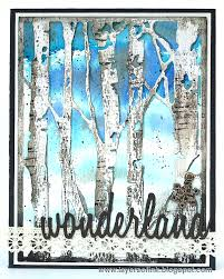 layers of ink winter birch trees tutorial by karin with