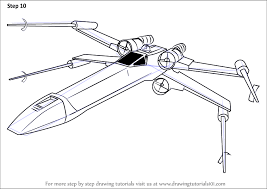 learn how to draw x wing fighter from star wars star wars step