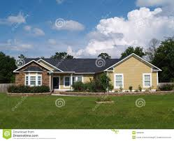 one story residential home stock photo image 9983050